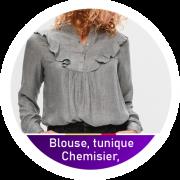 Chemisier, blouse, tunique