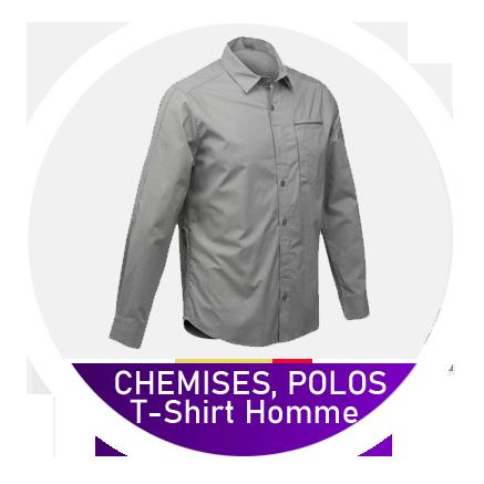 Chemises, T-shirts, Polos